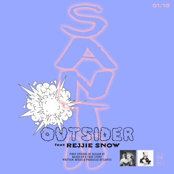 SANTII - OUTSIDER feat Rejjie Snow - cover primo singolo_b