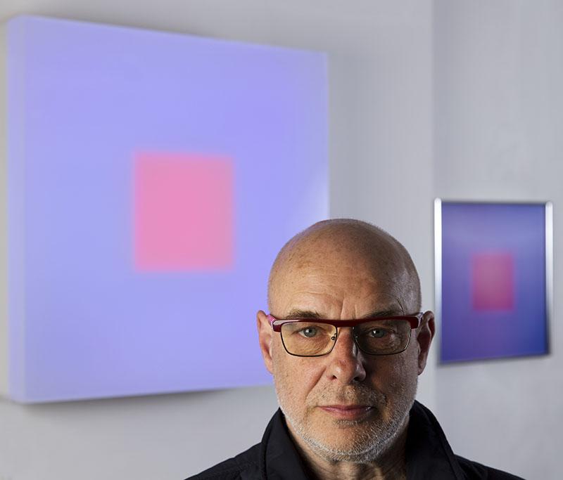 Brian Eno.  Courtesy Paul Stolper Gallery 2017, photogrpahy © M